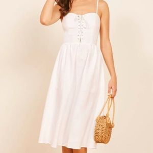 Reformation Serena dress white size 8 NWT